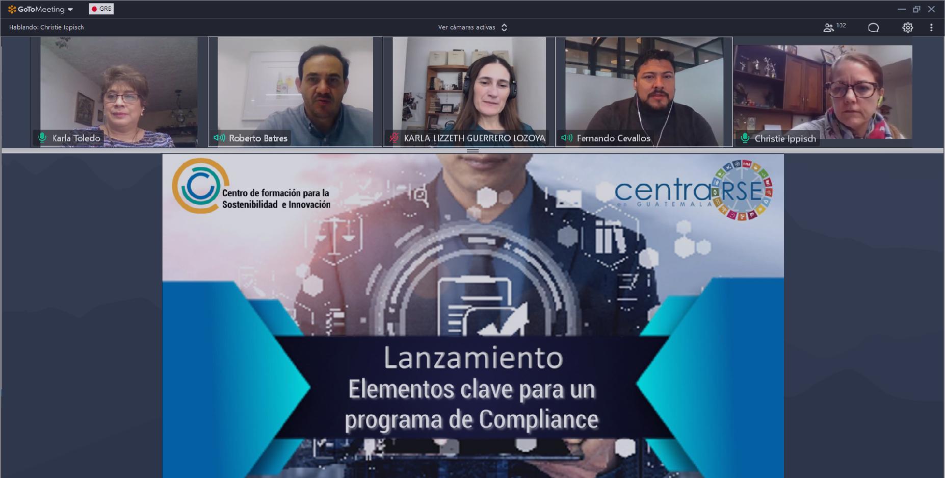Lanzamiento Programa -Cultura de Cumplimiento Organizacional- y curso de formación Elementos clave para un programa de Compliance.