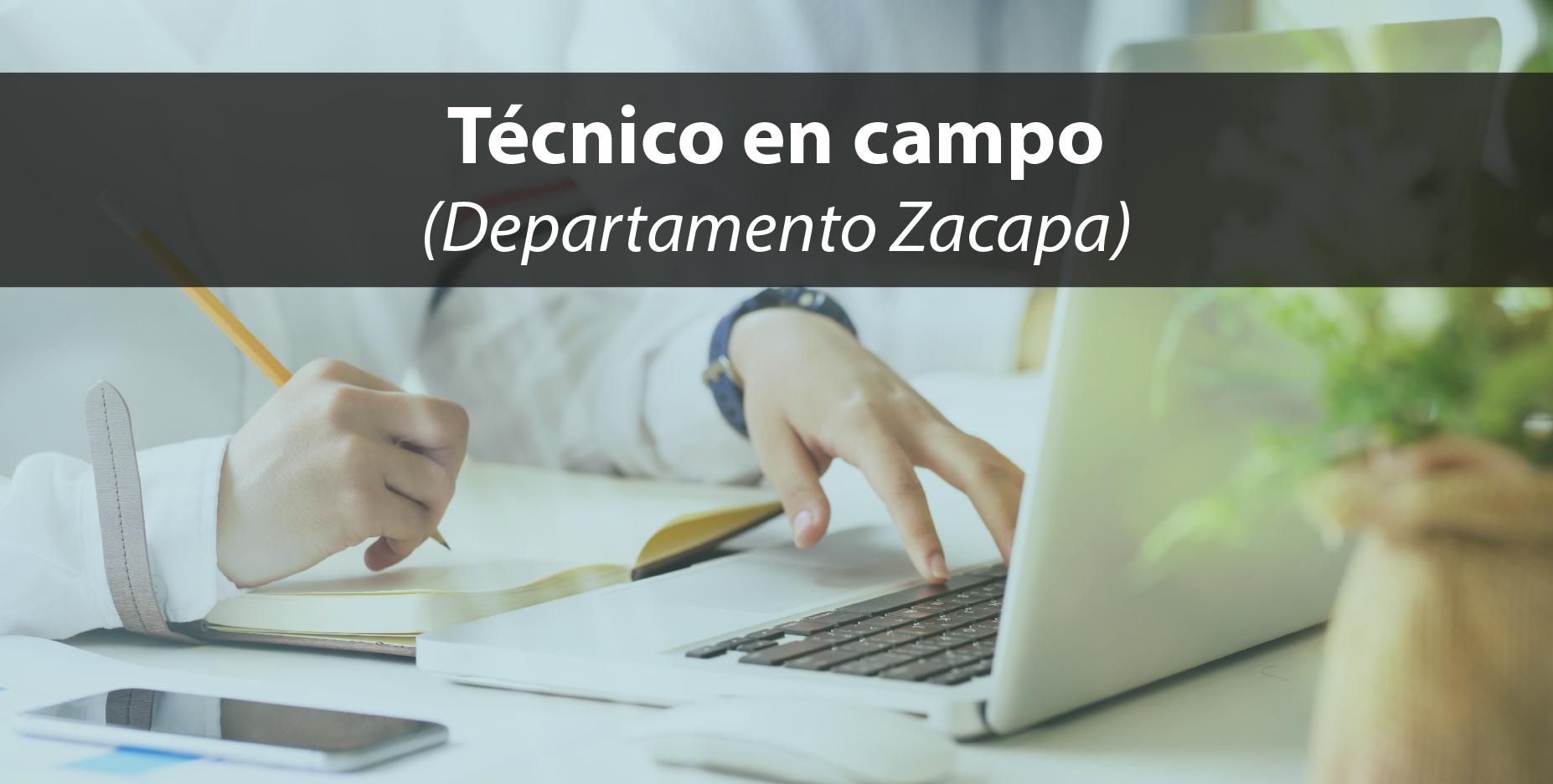 ANEXO I: Término de Referencia Técnico en campo para ejecutar programa de formación virtual en el departamento de Zacapa.