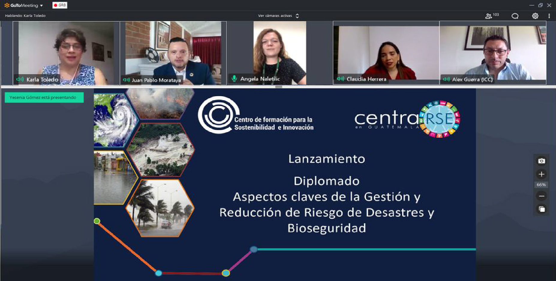 """Lanzamiento Diplomado Virtual """"Aspectos claves de la Gestión y Reducción de Riesgo de Desastres y Bioseguridad"""""""