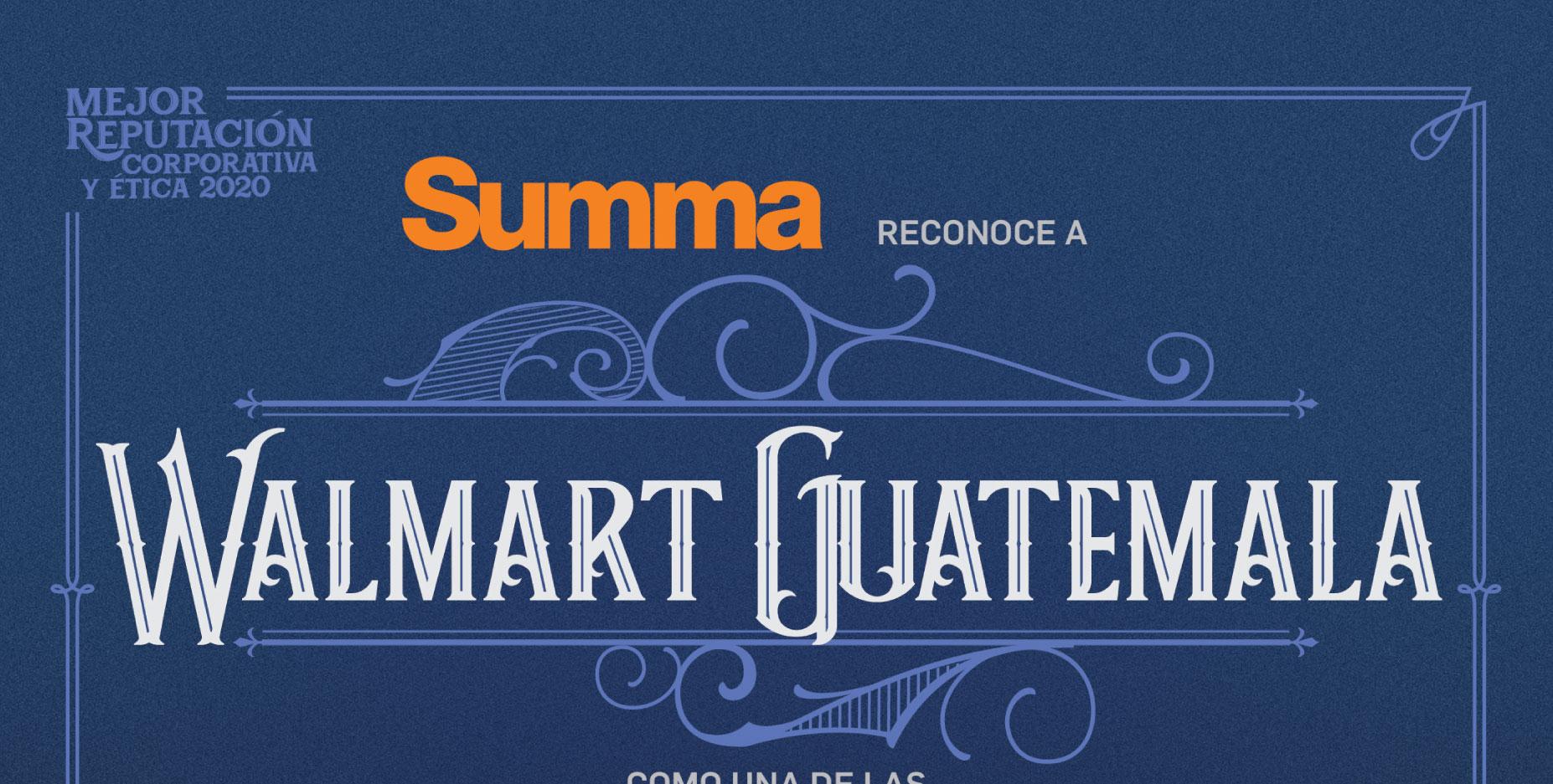Walmart Guatemala es reconocida en el ranking de Empresas con la Mejor Reputación Corporativa de América Central
