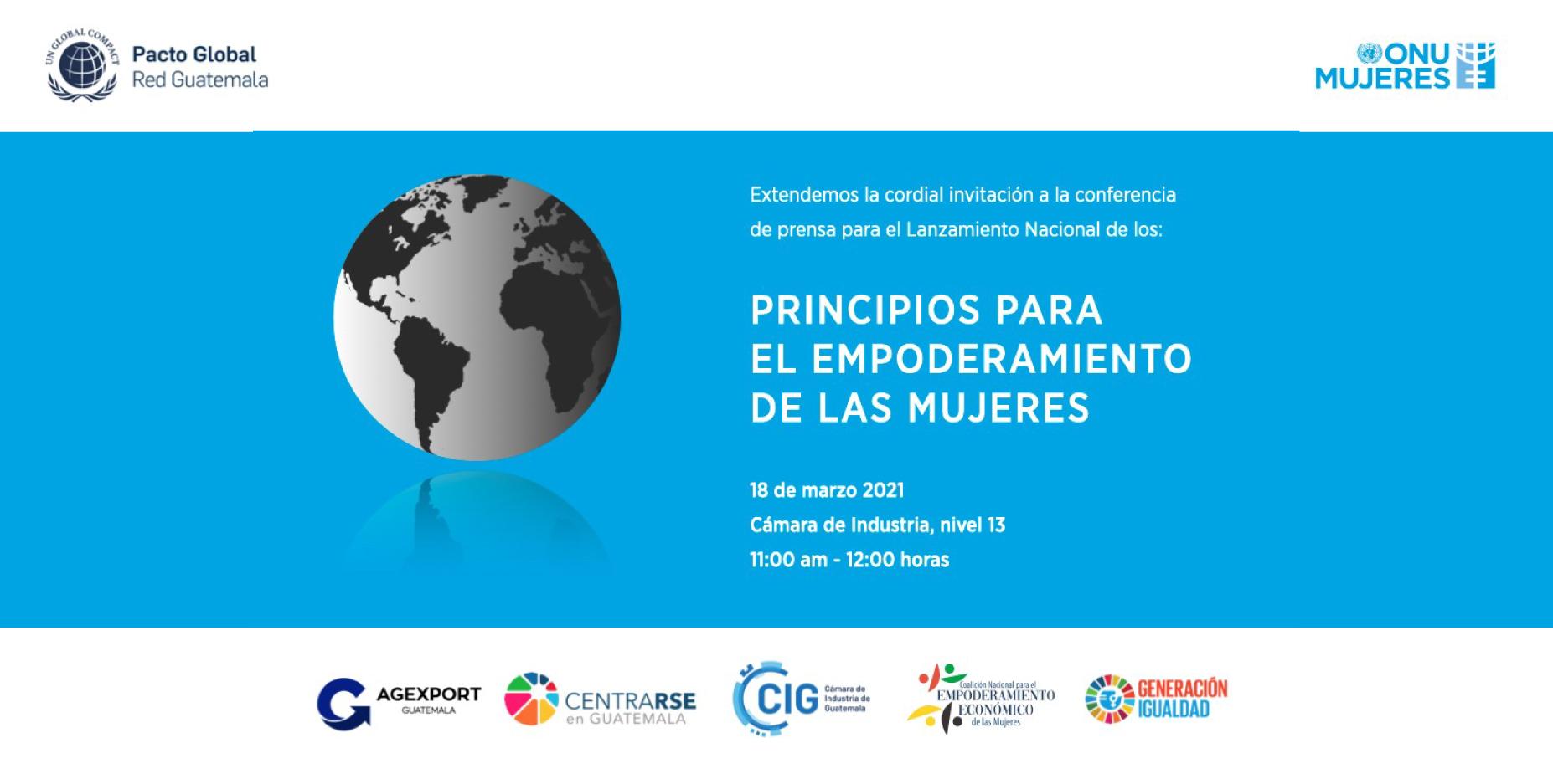 Lanzamiento Nacional Principios para el Empoderamiento de las Mujeres (WEPS)