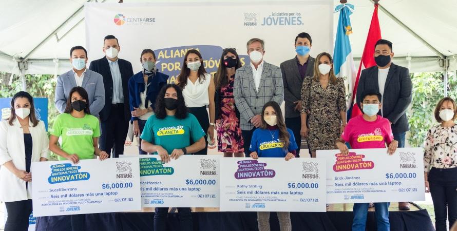 """Nestlé y la Alianza por los Jóvenes presentan a los 4 Ganadores del """"INNOVATÓN 2021"""" que Representarán a Guatemala en la Final Regional"""
